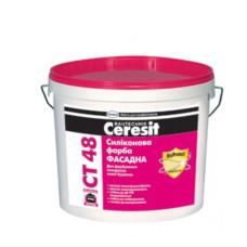 CERESIT СТ-48 Краска силиконовая фасадная 10л.