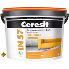 CERESIT IN-57 Интер.структурная краска для стен и потолка