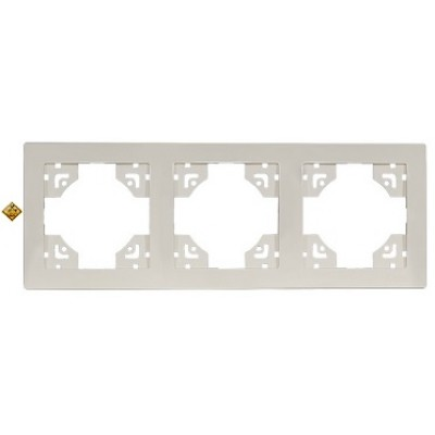 LUXEL BRAVO белый Рамка 3-я горизонтальная 5023