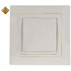 LUXEL BRAVO белый Розетка с заземлением и крышкой 5011