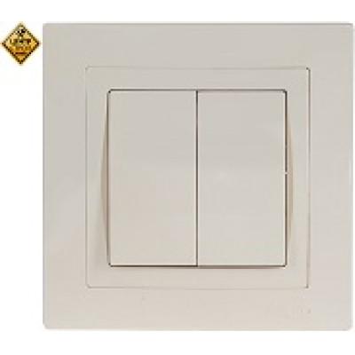 LUXEL BRAVO белый Выключатель двойной 5003