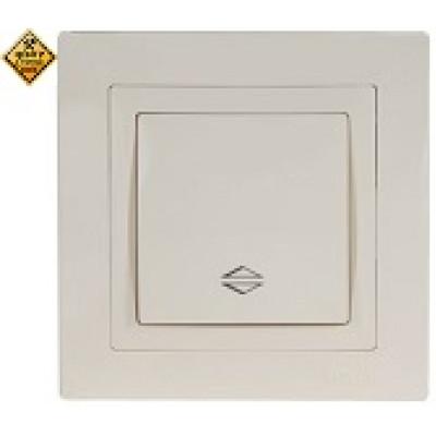 LUXEL BRAVO белый Выключатель проходной 5015