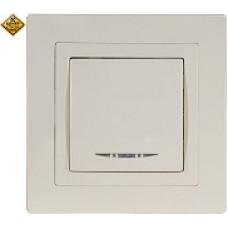 LUXEL BRAVO белый Выключатель с подсветкой 5005