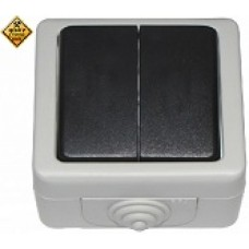 LUXEL Выключатель DEBUT наружный 2х клав.