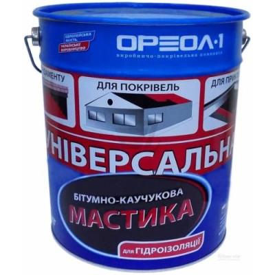 Ореол  Мастика битумно-каучуковая (20кг) Универсальная