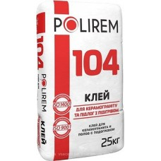 Полирем 104 - клей для керамогранита и теплых полов, 25кг