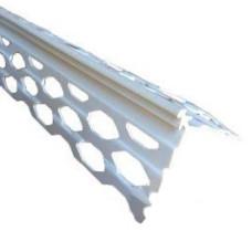 Уголок для мокрой штукатурки 3м (полимер белый)