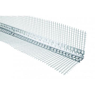 уголок алюминиевый с стеклосеткой 2.5м